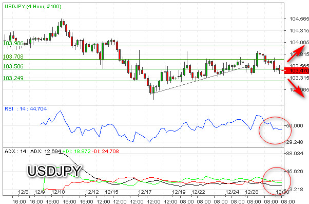USD/JPY Incar Support 103,00